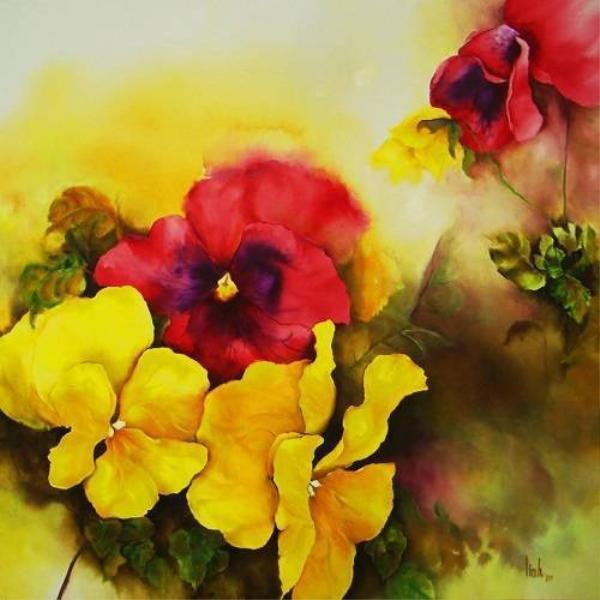 Linh - hoa da-i 90 x 90 - 2010 - Thanh xu ly