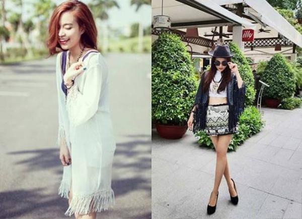 Hoàng Thùy Linh, Đinh Hương nữ tính trong áo khoác có tua rua ở đáy áo và 2 tay