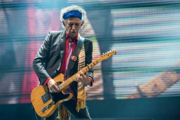 Tay guitar kỳ cựu Keith Richards.