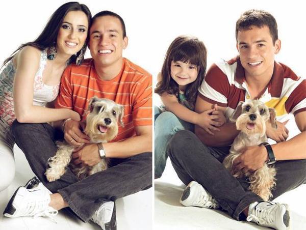Paul, chú cún nhỏ Rafael tặng cho Tatiane khi  bắt đầu hẹn hò giờ đã lớn.