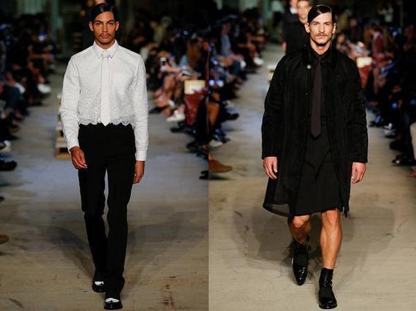 . Bên cạnh những bộ vest quen thuộc là sự xuất hiện của quần short, váy, sơ mi pha ren hay áo khoác voan trong suốt.