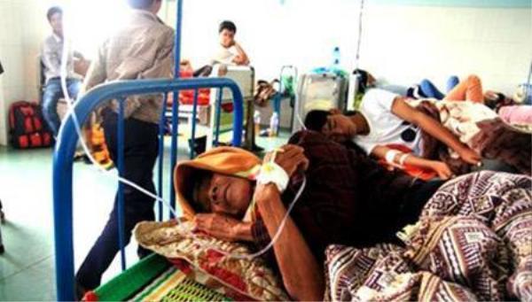 Các bệnh nhân tại Trung tâm Y tế huyện Krông Pa