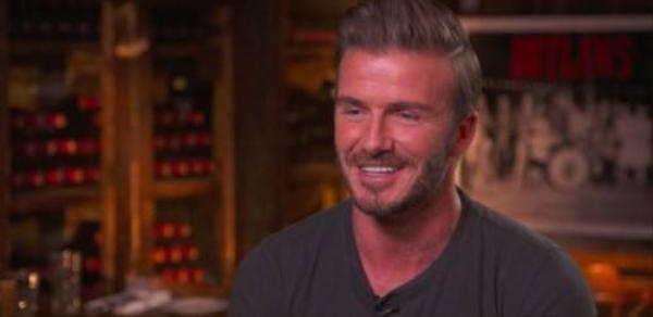 Beckham trong buổi phỏng vấn, chia sẻ niềm hạnh phúc của gia đình.
