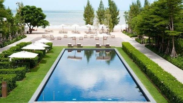Khung cảnh biển Cha-Am nhìn từ Hotel de la Paix.