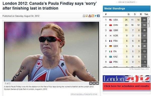 """Khi một vận động viên nói """"xin lỗi"""" vì đã không đạt được thành tích như mong đợi."""