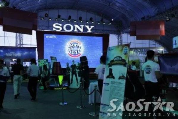 Sony Show 2015 được chia ra nhiều gian khác nhau để giới thiệu mọi loại sản phẩm công nghệ của Sony