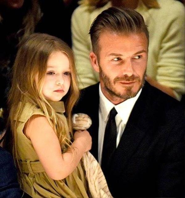 Becks và cô con gái cưng Harper.