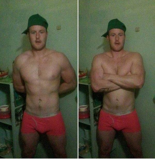 Beau Wiles đăng hình selfie lên Facebook cho bạn gái xem sau 2 ngày vượt ngục.