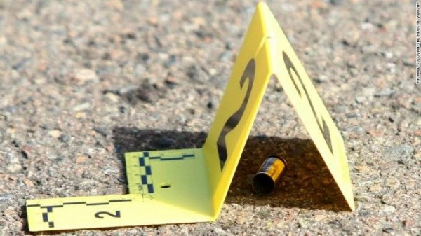 Hiện trường đầu đạn từ khẩu súng do thủ phạm sử dụng.