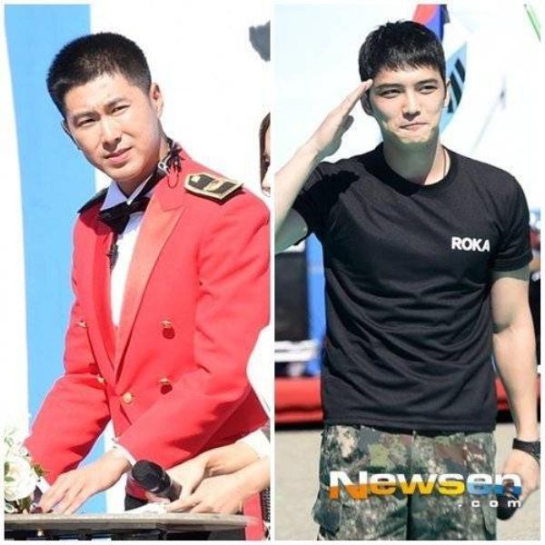 Yunho và Jaejoong xuất hiện tại cùng một sự kiện trong quân đội.