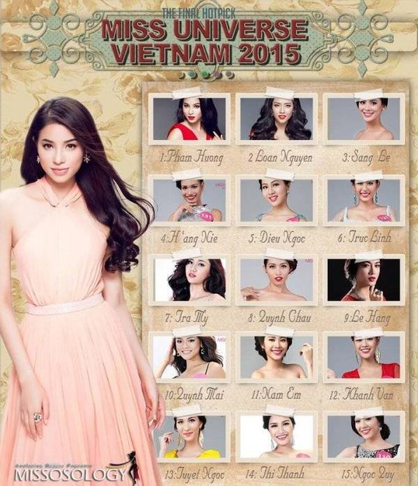 Phạm Hương cũng được trang Missology dự đoán là ứng viên số 1 của ngôi vị Hoa hậu.