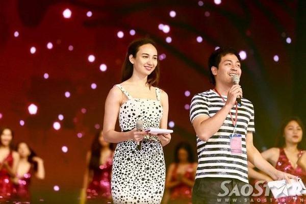 Hoa hậu Ngọc Diễm - MC Phan Anh đảm nhận vai trò dẫn dắt chương trình.