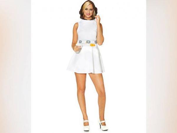 Trang phục công chúa Leila trong phim Chiến tranh giữa các vì sao, phần 7 dự kiến ra mắt cuối năm nay.