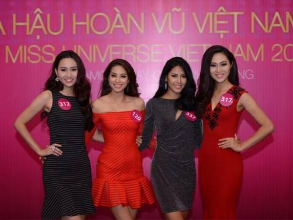 Phạm Hương có chiều coa khiêm tốn so với các người đẹp còn lại trong cuộc thi.