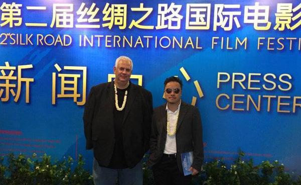 ¡o diÅn Victor Vi và ông Michael Werner cça hãng phát hành Fortissimo Films t¡i LHPQT Silk Road, Phúc Châu, Trung QuÑc¢nh: NVCC