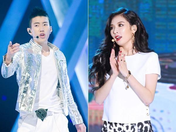 Jay Park và Hyuna.