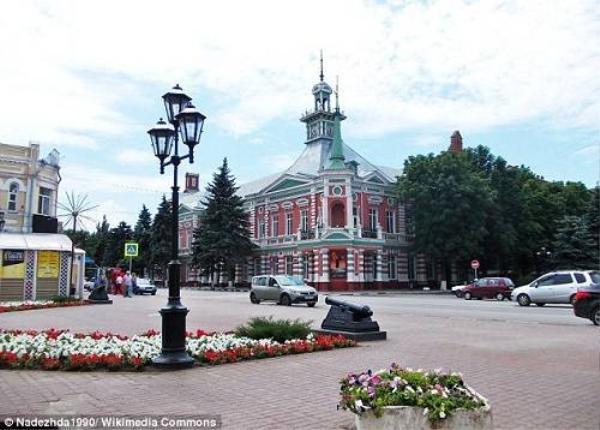 Bệnh viên địa phương tại Azov, nơi bé Katya bị mẹ bỏ rơi.