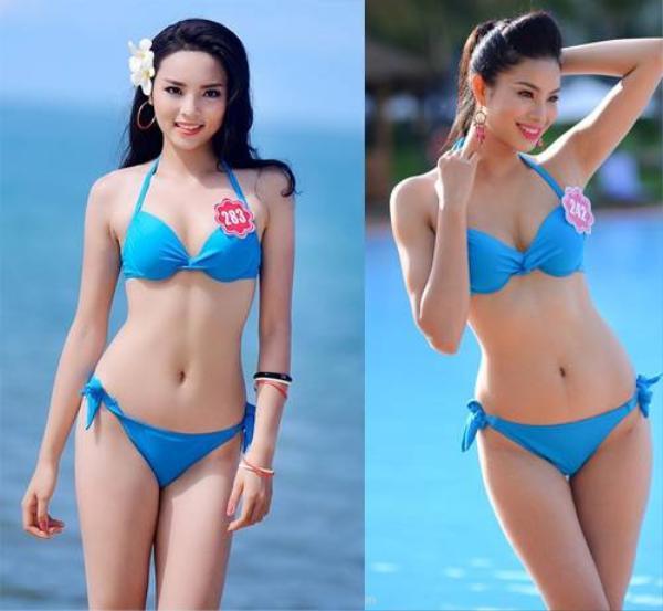 So sánh hình thể của hai hoa hậu trong cuộc thi Hoa hậu Việt Nam 2014