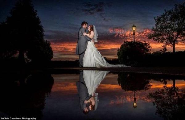 Ảnh cưới sau khi đã được photoshop.