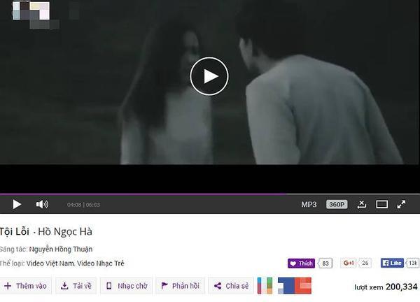 MV Tội lỗi vừa cán mốc 200.000 lượt nghe xem và hứa hẹn tăng thêm trong những ngày tới.