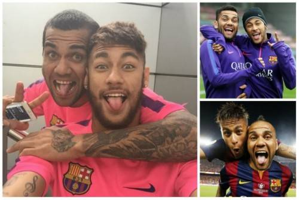Dani Alves và Neymar