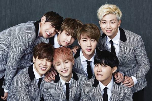 Nhóm nhạc BTS.