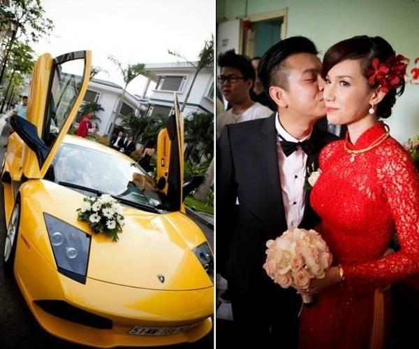 Quỳnh Chi và đám cưới toàn siêu xe.