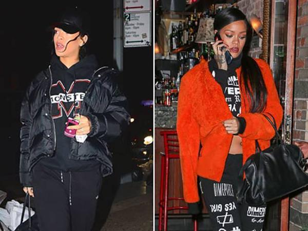 Nữ ca sĩ Rihanna luôn nổi bật với vẻ ngoài sành điệu và cá tính. Tuy nhiên, không ít lần cô khiến dư luận ngạc nhiên khi sử dụng một chiếc điện thoại nắp gập của T-Mobile hay chiếc Motorola RAZR màu hồng nữ tính song hành cùng những bộ đồ táo bạo. Ngoài ra, Rihanna vẫn sử dụng một chiếc smartphone để đăng tải hình ảnh lên mạng xã hội.