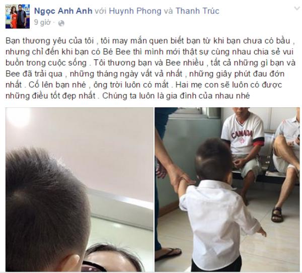 Một người bạn thân khi đọc dòng thư đầy nước mắt của Thanh Trúc đã gửi lời động viên.