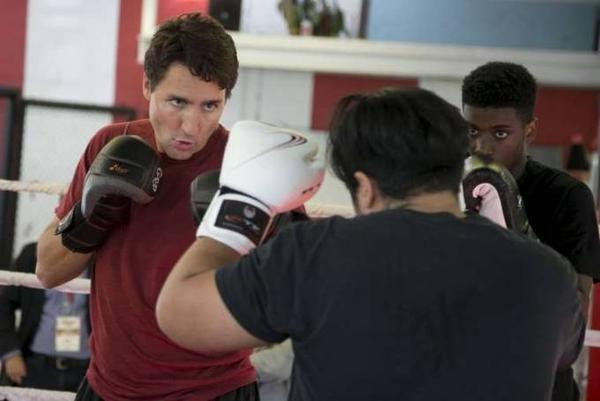 Boxing là bộ môn yêu thích của tân thủ tướng Canada.