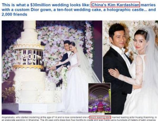 Đám cưới khiến Angela Baby được so sánh với Kim Kardashian.
