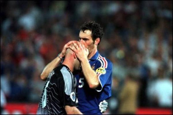 Laurent Blanc và Fabien Barthez