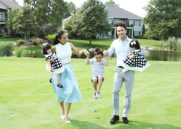 Huyền Ny hạnh phúc với mái ấm bên cạnh người chồng tâm lý và 3 con kháu khỉnh.