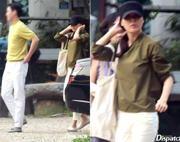 Kim Ha Neul và bạn trai bị bắt gặp vào cuối tháng 9.