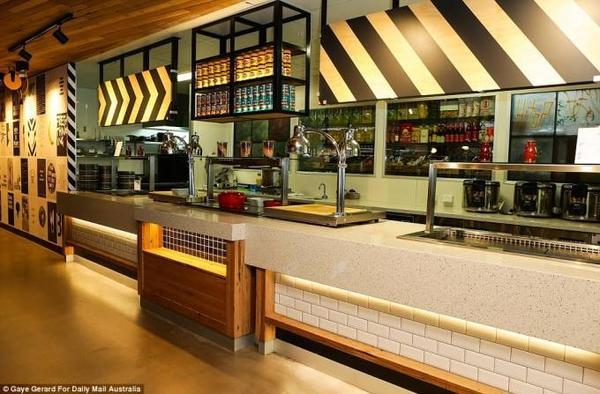 Một góc nhà bếp ngay trong văn phòng Google tại Úc, các đầu bếp riêng sẽ phục vụ miễn phí cho hơn 1200 nhân viên sáng tạo của đế chế hùng mạnh này.
