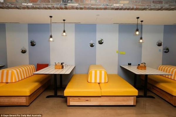 Đây là canteen theo phong cách Mỹ của các nhân viên văn phòng Google.