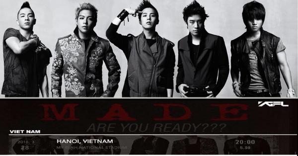 M.A.D.E Tour của Big Bang sẽ không đến Việt Nam như lịch trình dự kiến.