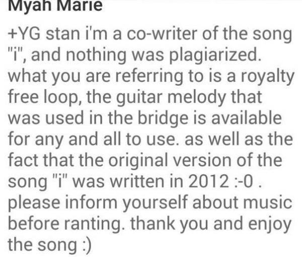 Đoạn chia sẻ của Myah Marie Langston.