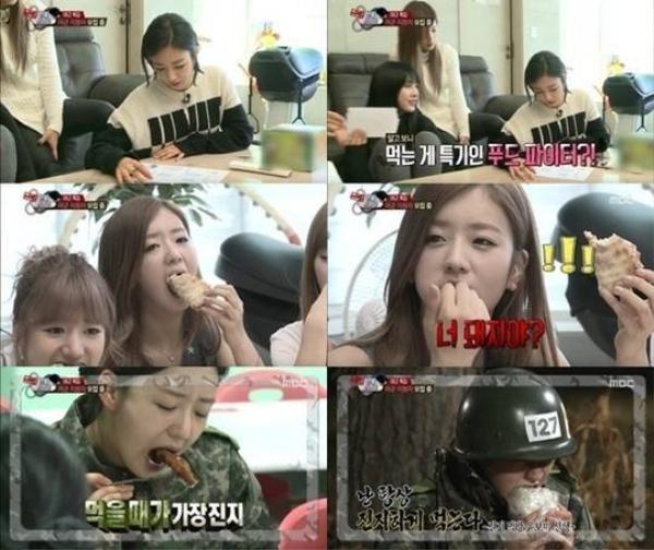 Bomi xinh xắn của nhóm A Pink ăn uống ngon lành khi tham gia show truyền hình thực tế Real Men.