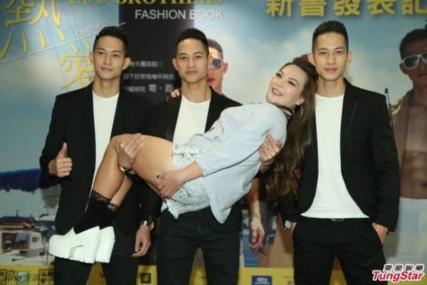 Ba anh chàng họ Lưu nổi bật trong sự kiện ra mắt cuốn sách ảnh tại Đài Loan.