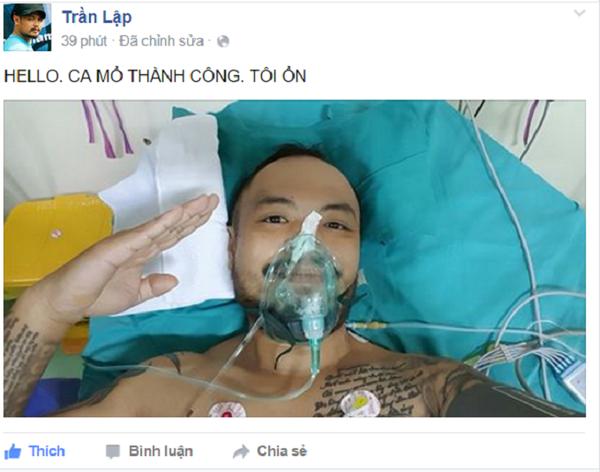 Nhạc sĩ Trần Lập vừa trải qua cuộc phẫu thuật