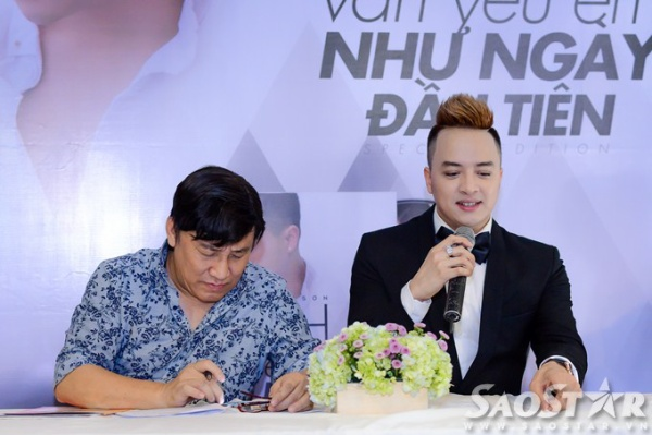 Cao Thái Sơn phát biểu trong buổi họp báo.