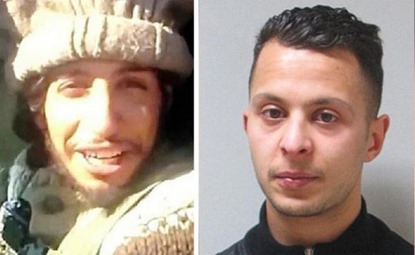 Từ trái sang là ảnh hai nghi phạm vụ tấn công khủng bố Paris đang bị truy lùng và đang bị vây ráp ở St. Denis: Abdelhamid Abaaoud (người Bỉ gốc Ma-rốc) và Abdeslam Salah (người Pháp) - kẻ khủng bố thứ 8 trong vụ tấn công Paris