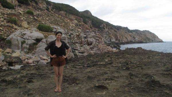 Hình ảnh Thanh Thanh trong một chuyến du lịch gần đây.