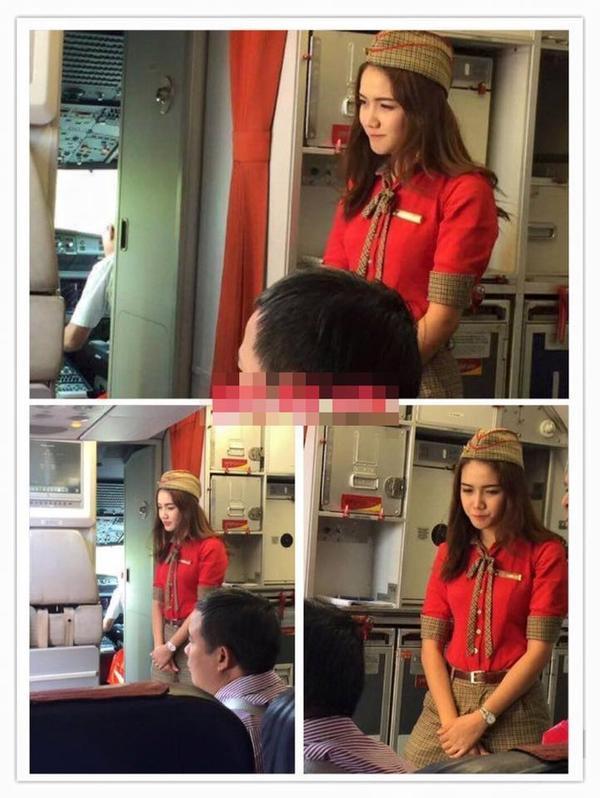 Cận cảnh vẻ xinh đẹp của cô nàng tiếp viên hàng không.