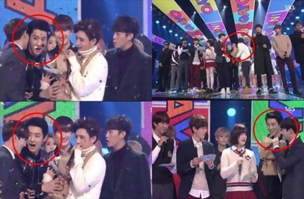 Trên sân khấu âm nhạc Inkigayo, thành viên Chan Yeol nhận nhiệm vụ tặng hoa cho Lee Yo Bi khi nữ MC này chia tay khán giả. Tuy nhiên Chan Yeol lại trao nhầm hoa cho nhóm BEAST. Sự cố này khiến mọi người rơi vào tình huống khó xử và BEAST phải trao lại bó hoa cho MC xinh đẹp.