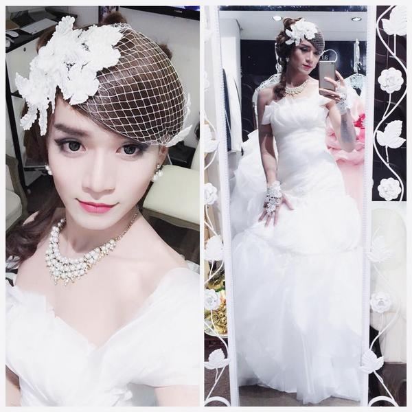 BB Trần nữ tính và duyên dáng khi hoá trang thành cô dâu lung linh trong ngày cưới