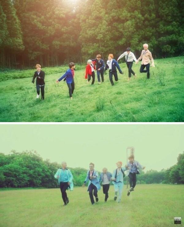 BTS trong Run và Sober của Big Bang.