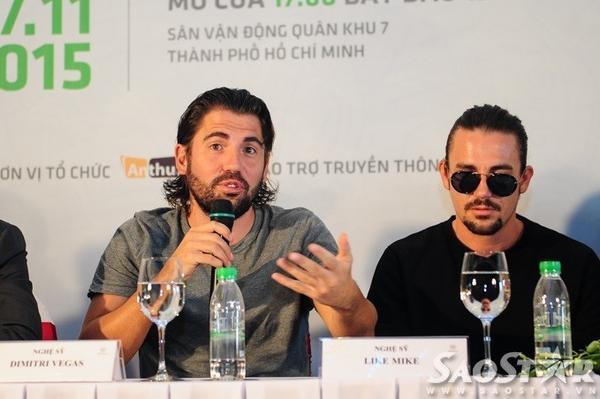 Dimitri Vegas và Like Mike - cặp  DJ số 1 thế giới.