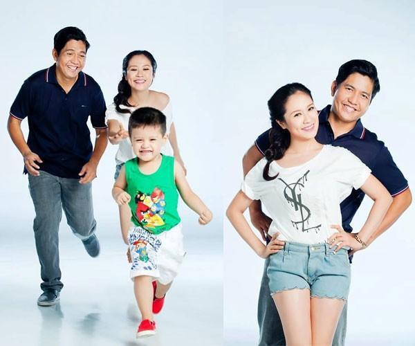 Gia đình nhỏ hiện tại của Thanh Thúy.